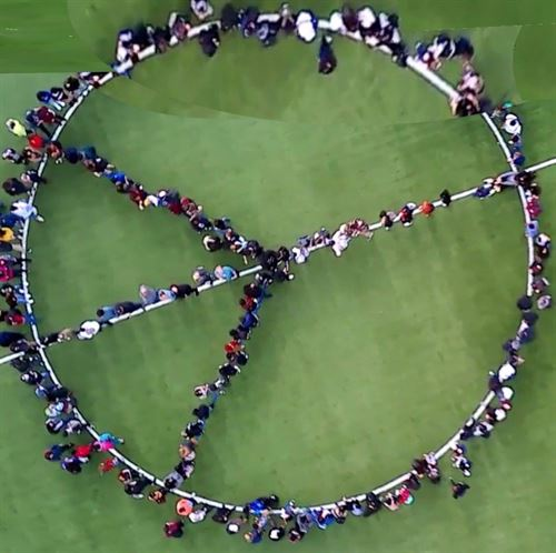 Student Peace Sign